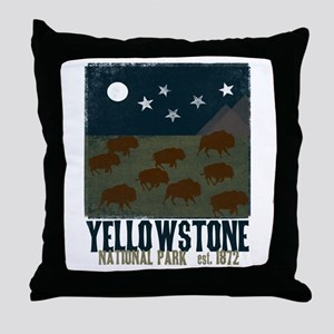Yellowstone Park Night Sky Throw Pillow